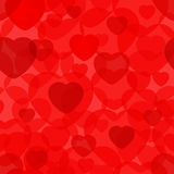 Seamless background pattern with hearts Royalty Free Stock Photography
