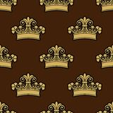 Seamless background pattern of a heraldic crowns Royalty Free Stock Images