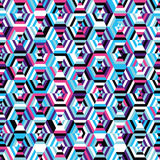 Seamless background pattern hexagons Royalty Free Stock Photo
