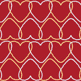 Seamless background pattern with intersected contour hearts Stock Photo