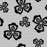 Seamless background pattern lace, black and white color Stock Image