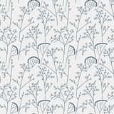 Seamless background pattern with leaves. And branch Royalty Free Stock Image