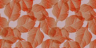 Seamless background pattern with leaves. A seamless background pattern with leaves, toned. Vector illustration Stock Image