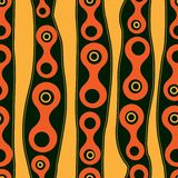 Seamless background pattern with metaball form.  stock illustration