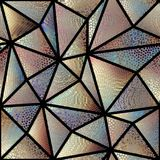 Seamless mosaic pattern. Seamless background pattern. Mosaic art pattern of triangles of different tile textures. Vector image Stock Photos