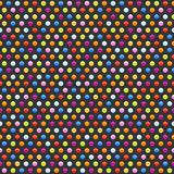 Seamless background pattern with multicolored dots Royalty Free Stock Images