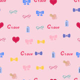 Seamless background pattern name Grace of the newborn Stock Photography