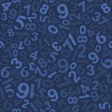 Seamless Background Pattern with Numbers. Vector Stock Images