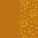 Seamless background pattern orange. Orange card. Seamless pattern background with orange flowers. Stock Photography