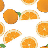 Seamless background pattern orange whole, cut. Royalty Free Stock Image