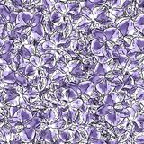Seamless background pattern of orchid flowers Royalty Free Stock Image