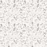 Seamless background pattern of organic farm fresh fruits and vegetables Stock Photos