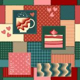 Seamless background pattern. Patchwork. Stock Photo