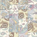 Geometric patchwork pattern of a squares. Seamless background pattern. Patchwork pattern of a squares with Paisley ornament patterns Stock Images