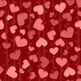 Seamless background pattern with red and pink hearts Royalty Free Stock Photos