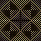 Seamless background pattern with repeating endless golden waves Royalty Free Stock Images