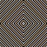 Seamless background pattern with repeating golden chains. Ornament isolated on the black background. Vector eps illustration Royalty Free Stock Photos