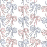 Seamless background pattern of ribbon bow Royalty Free Stock Images