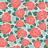 Seamless background pattern of rose flower Stock Photography