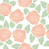 Seamless background pattern of rose flower Royalty Free Stock Image