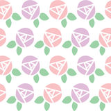 Seamless background pattern of rose flower Stock Photos