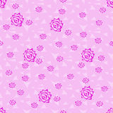 Seamless background pattern of roses. Stock Photo