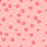Seamless background pattern of roses. Vector. Royalty Free Stock Photos
