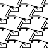 Seamless background pattern of shopping carts Royalty Free Stock Images