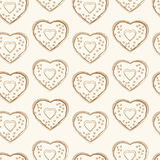 Seamless pattern of heart shapes Stock Photography