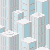 Seamless background pattern with skyscrapers Stock Image