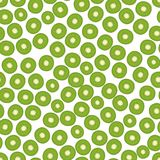 Seamless background, pattern with slices of KIWI. stock illustration