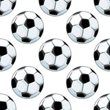 Seamless background pattern of soccer balls Stock Photography