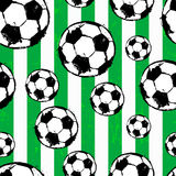 Seamless background pattern, with soccer / football, paint strok Royalty Free Stock Images