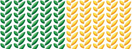 LEAVES AND SEEDS PATTERN GREEN AND YELLOW. Seamless background pattern texture. see more in my portfolio Royalty Free Stock Photography