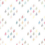 Seamless background pattern in the treble clef Royalty Free Stock Photography