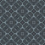 Contrast waved lines seamless pattern background illustration Stock Photos