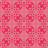 2d blocked Reddish pink base seamless pattern background illustration. Seamless  background pattern for use in fabrics , web backgrounds , art , styling , prints Royalty Free Stock Photography