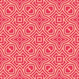 Girlish design hearts n stars seamless pattern background illustration in red pinkish tone. Seamless background pattern for use in fabrics , web backgrounds vector illustration