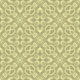 Linked star leafs seamless pattern background illustration in dull green base Royalty Free Stock Image