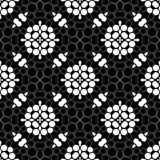 Mirrored hexagon seamless pattern background Stock Images