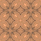 Orange leafs in squares seamless pattern background illustration Stock Photography