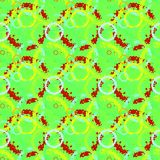 Seamless background pattern with various colored circles. Aesthetic colorful background stock photo