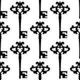 Seamless background pattern of a vintage keys Royalty Free Stock Photography
