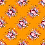 Seamless background pattern. Set of grunge hearts Royalty Free Stock Photo
