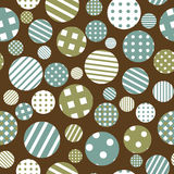 Seamless background with patterned round shapes Stock Photo