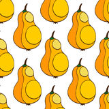 Seamless background with pear in yellow color. Stylish seamless pattern with fruit. For menu, cards, invitations, backgrounds, wal Royalty Free Stock Image