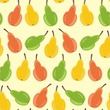 Seamless background with pears Royalty Free Stock Photo