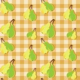 Seamless background with pears Stock Photos
