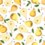 Seamless background with pears. Vector illustration. Stock Photo