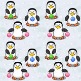 Seamless background with penguins Royalty Free Stock Photo